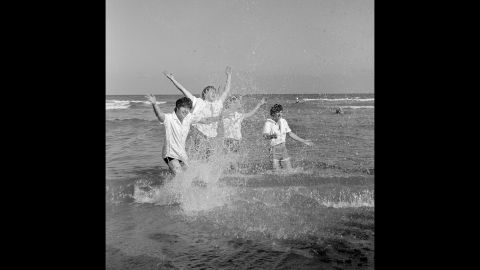 The Beatles enjoy Miami Beach.