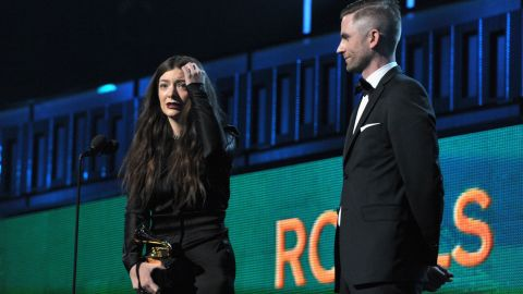 """<strong>Song of the year: </strong>""""Royals"""" by Lorde. The song also won best pop solo performance."""