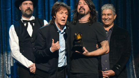 """<strong>Best rock song:</strong> """"Cut Me Some Slack"""" by Paul McCartney, Dave Grohl, Krist Novoselic and Pat Smear"""