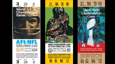 The first Super Bowl Championship game was between the NFL Green Bay Packers and the AFL Kansas City Chiefs at Memorial Colisuem in Los Angeles. Here's a look at all the most coveted sports tickets in America since the game first began on January 15, 1967.