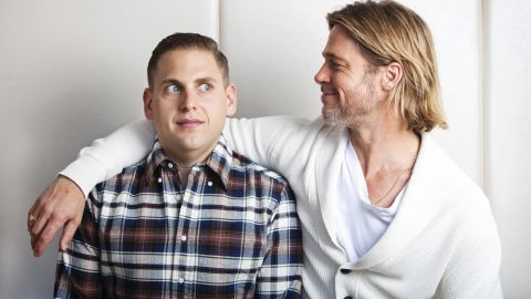 """After they filmed 2011's """"Moneyball"""" together, Brad Pitt, right, and Jonah Hill have maintained a friendship. <a href=""""http://www.usmagazine.com/celebrity-news/news/jonah-hill-crashed-at-brad-pitt-angelina-jolies-house-for-4-months-20112212"""" target=""""_blank"""" target=""""_blank"""">Pitt even let Hill stay in his New Orleans home</a> for months while Hill was filming """"This Is The End,"""" and Hill confirmed on """"The Howard Stern Show"""" that he and Pitt keep in touch regularly."""