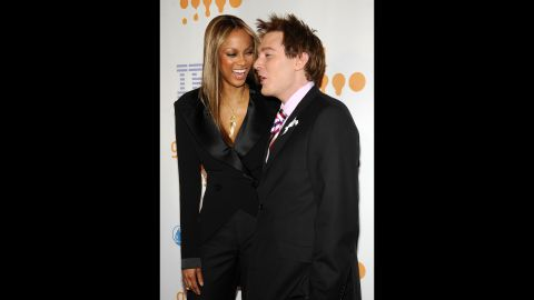 """Tyra Banks and Clay Aiken are apparently a match made in friendship heaven. """"I love her to death,"""" <a href=""""http://www.people.com/people/article/0,,20270908,00.html"""" target=""""_blank"""" target=""""_blank"""">the """"American Idol"""" star has said of Banks</a>. """"For some reason we just clicked when we first met."""""""