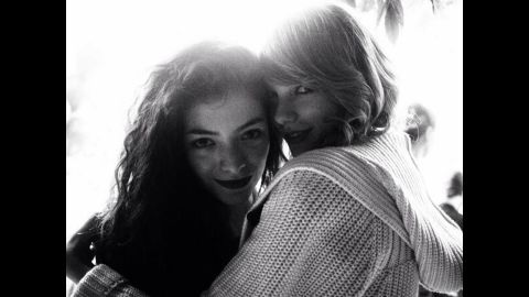 """We know what you're thinking: Who <em>isn't </em>Taylor Swift friends with? We couldn't tell you, because this superstar seems to be friendly with everyone famous, including Lorde. After the teen singer picked up two awards at the 2014 Grammys, Swift -- who didn't win that night -- shared a photo to let her fans know that she was fully supporting her friends. """"And you know. ... We're on each other's team,"""" <a href=""""https://twitter.com/taylorswift13/status/427648489472790528"""" target=""""_blank"""" target=""""_blank"""">Swift tweeted</a>."""