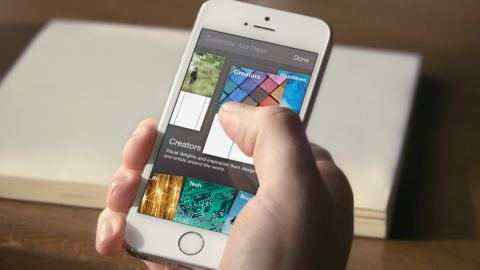 The main section of Paper will be a user's News Feed. Users can customize the app from there with other topics.