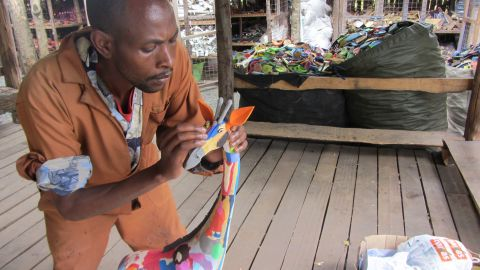 Ocean Sole provides direct employment to more than 70 people, not just in remote coastal areas but in Nairobi where the head office is based and workshops are held.