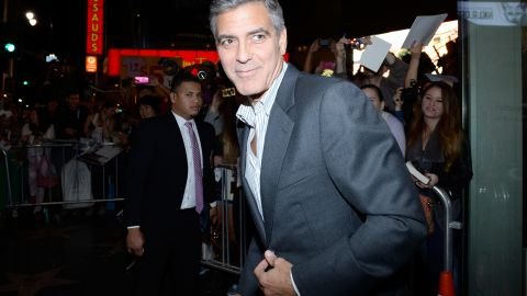 HOLLYWOOD, CA - NOVEMBER 08: Producer George Clooney attends the premiere of The Weinstein Company's 'August: Osage County' during AFI FEST 2013 presented by Audi at TCL Chinese Theatre on November 8, 2013 in Hollywood, California. (Photo by Kevork Djansezian/Getty Images for AFI)