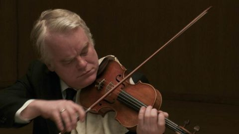 """Hoffman appears in 2012's """"A Late Quartet."""" He reportedly learned how to play the violin during his role as a member of a string quartet. <a href=""""http://www.huffingtonpost.com/katie-calautti/philip-seymour-hoffman-christopher-walken_b_2629784.html"""" target=""""_blank"""" target=""""_blank"""">He told the Huffington Post </a>that """"I really got into the violin thing, because it's not acting, and I got off on that."""""""