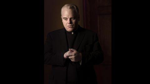 """In 2008's """"Doubt,"""" Hoffman plays Father Brendan Flynn, a Catholic priest accused of having an inappropriate relationship with a male student. This was yet another film that got Hoffman supporting actor nominations for the Oscars and the Golden Globes."""