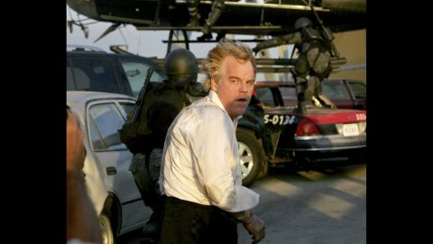 """Hoffman plays Owen Davian in 2006's """"Mission: Impossible III."""" The <a href=""""http://on.aol.com/video/mission--impossible-iii---philip-seymour-hoffman---feature-517618870"""" target=""""_blank"""" target=""""_blank"""">actor told AOL</a> at the time that while an action film was not usually his type of role, """"it was just one of those things where all the ingredients seemed right."""""""