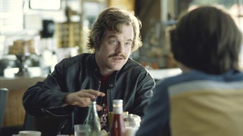 """Hoffman plays Lester Bangs in 2000's """"Almost Famous."""" He delivers one of the film's most memorable scenes when he advises Patrick Fugit's character, William Miller, that """"the only true currency in this bankrupt world is what we share with someone else when we're uncool."""""""