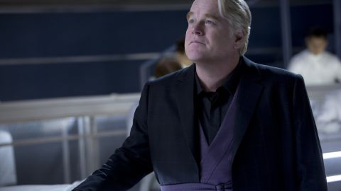 """Philip Seymour Hoffman appears in 2013's """"The Hunger Games: Catching Fire."""" Hoffman played the role of Plutarch, the head game maker in the film. He was expected to also appear in the following films of the very successful franchise."""