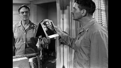 """<strong>""""The Best Years of Our Lives"""" (1947):</strong> Veterans Fredric March, pictured, Dana Andrews and Harold Russell returned home to adjust to life in post-war America in this William Wyler classic. Myrna Loy, Teresa Wright and Cathy O'Donnell were the women in their lives who also found the world much more complicated with the war's end. Russell, a real vet, lost both hands in World War II."""