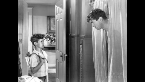 """<strong>""""Gentleman's Agreement"""" (1948):</strong> Elia Kazan's """"Gentleman's Agreement"""" continued Hollywood's exploration of more serious subject matter, this time anti-Semitism. Gregory Peck, right, plays a reporter who goes undercover posing as a Jew, making his girlfriend (Dorothy McGuire) face uncomfortable truths about her upper class WASP life. A young Dean Stockwell played Peck's son."""