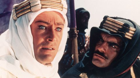 """<strong>""""Lawrence of Arabia"""" (1963):</strong> David Lean created the <a href=""""http://www.afi.com/10top10/epic.html"""" target=""""_blank"""" target=""""_blank"""">epic of all epics</a> with """"Lawrence of Arabia."""" <a href=""""http://www.cnn.com/2013/12/15/showbiz/peter-otoole-obit/"""">Peter O'Toole</a>, left, with Omar Sharif, became a superstar with his portrayal of T.E. Lawrence, the legendary British officer who helped lead the Arab revolt against the Ottoman Empire in World War I. The movie won seven Oscars, including for Lean's direction."""