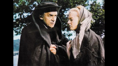 """<strong>""""A Man for All Seasons"""" (1967):</strong> Paul Scofield re-created his stage role as Sir Thomas More in Fred Zinnemann's film version of the Robert Bolt drama """"A Man for All Seasons."""" The film portrayed More as a man of conscience who refused to recognize King Henry VIII as head of the Church of England because of his denial of the Pope's authority. Scofield and director Zinnemann both won Oscars for their work. Susannah York, right, co-starred."""