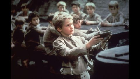 """<strong>""""Oliver!"""" (1969):</strong> This best picture winner was a musical adaptation of Charles Dickens' """"Oliver Twist"""" with Mark Lester as an orphan who teams up with other young pickpockets led by an old criminal. Carol Reed also took home the Oscar for best director. Two of 1968's best-remembered movies, Stanley Kubrick's """"2001: A Space Odyssey"""" and Roman Polanski's """"Rosemary's Baby,"""" weren't even nominated for best picture."""