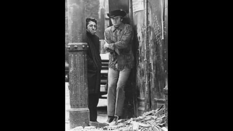 """<strong>""""Midnight Cowboy"""" (1970):</strong> John Schlesinger's """"Midnight Cowboy"""" was the first best picture Oscar winner to be rated X, reflecting the easing of censorship in the late '60s. The movie established Jon Voight, right, as a star for his portrayal of a dumb, naive Texan who fancies himself a gigolo to rich women in New York but ends up a hustler. Fresh from """"The Graduate,"""" co-star Dustin Hoffman as con man Ratso Rizzo proved he was one of the top actors of his generation."""