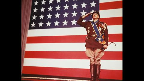 """<strong>""""Patton"""" (1971):</strong> George C. Scott made Oscar history when he became the first actor to refuse the award. Scott played the title role in this biography of volatile World War II Gen. George S. Patton Jr. The film, directed by Franklin J. Schaffner, reportedly was one of President Richard Nixon's favorite films."""