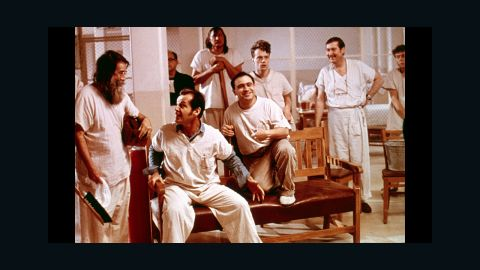 """<strong>""""One Flew Over the Cuckoo's Nest"""" (1976):</strong> """"One Flew Over the Cuckoo's Nest"""" captured all four top Academy Awards, a feat that had not been accomplished in more than 40 years (not since """"It Happened One Night."""") Besides best picture, the movie took home Oscars for best director (Milos Forman), actor (Jack Nicholson) and actress (Louise Fletcher). It won a fifth for best adapted screenplay. In this film of Ken Kesey's novel, Nicholson, second from left, struck a chord with audiences as McMurphy, a rebellious inmate in a mental institution who faces off against the ultimate authority figure, Nurse Ratched (Fletcher)."""
