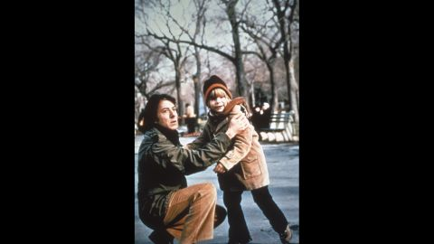 """<strong>""""Kramer vs. Kramer"""" (1980):</strong> Dustin Hoffman played a bewildered dad who had paid little attention to family life until his wife leaves him and he has to raise their son (Justin Henry, right) alone in """"Kramer vs. Kramer."""" A bitter custody battle ensues once the wife (played by Meryl Streep) decides she wants her son back. Both Hoffman (best actor) and Streep (best supporting actress) won Oscars for their roles, and Robert Benton took home direction and writing honors for the film."""