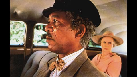 """<strong>""""Driving Miss Daisy"""" (1990):</strong> Stage actress Jessica Tandy finally became a movie star at age 80 as an Atlanta Jewish matriarch who develops a close relationship with her driver, Hoke, played by Morgan Freeman, in Bruce Beresford's film of Alfred Uhry's Pulitzer Prize-winning play. """"Driving Miss Daisy"""" didn't compete for best picture against some of the year's most acclaimed movies -- """"Sex, Lies, and Videotape,"""" """"Do the Right Thing"""" and """"Drugstore Cowboy"""" weren't nominated for the top award."""