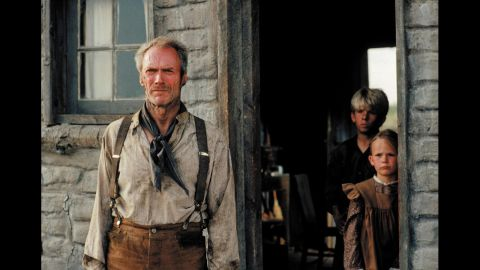"""<strong>""""Unforgiven"""" (1993):</strong> """"It's a hell of a thing, killing a man,"""" says Clint Eastwood's gunfighter, William Munny, in """"Unforgiven"""" -- and, indeed, the Western can be seen as one of Eastwood's many meditations on the impact of violence in society. The actor and director plays Munny, a retired outlaw who is drawn back into his old role to avenge himself on a brutal sheriff (Gene Hackman). """"Unforgiven"""" was just the third Western to win best picture, after """"Cimarron"""" (1931) and """"Dances With Wolves"""" (1990)."""
