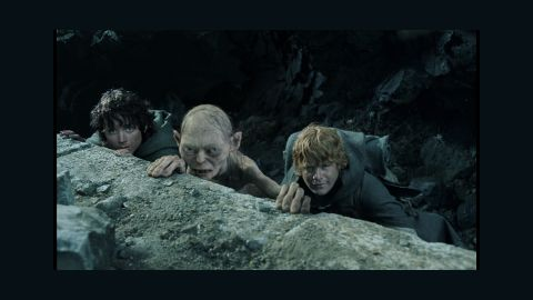 """<strong>""""Lord of the Rings: The Return of the King"""" (2004):</strong> The final film in Peter Jackson's """"The Lord of the Rings"""" trilogy, """"The Return of the King,"""" swept all 11 categories in which it was nominated -- including best picture. From left, Elijah Wood, Andy Serkis and Sean Astin play three of J.R.R. Tolkien's characters: Frodo Baggins, Gollum and Samwise Gamgee."""