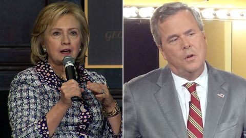 Hillary Clinton and Jeb Bush are considered early contenders for 2016 nominations.