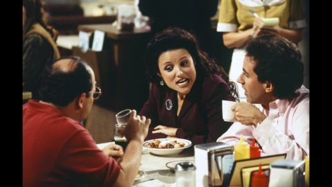 """Julia Louis-Dreyfus got her start on """"Saturday Night Live,"""" but it's her role as the sole lead female character on the iconic '90s comedy """"Seinfeld"""" that stands out the most. Initially, Louis-Dreyfus' Elaine didn't exist, but it was decided that the show needed a woman's voice. """"We had a very vague idea of Elaine,"""" """"Seinfeld"""" co-creator Jerry Seinfeld told The New York Times in 1993. """"But once Julia walked in, we knew who Elaine was. We created her together."""" Louis-Dreyfus has since been in other hits, including HBO's """"Veep."""""""