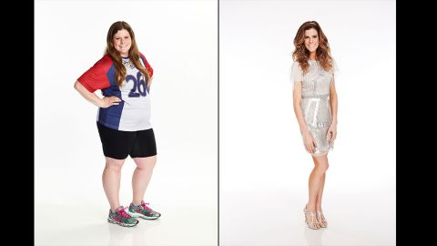 """When """"The Biggest Loser"""" contestant Rachel Frederickson showed just how much weight she lost on the NBC competition in season 15 -- 155 pounds, to be exact -- not everyone was impressed. A number of viewers expressed concern that she had become """"too skinny,"""" although Frederickson said that she feels fine."""
