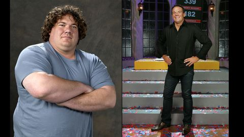 """Matt Hoover's 157-pound weight loss propelled him to """"Biggest Loser"""" status during the show's second season. He walked away with more than just $250,000, though: <a href=""""http://www.people.com/people/article/0,,1536577,00.html"""" target=""""_blank"""" target=""""_blank"""">Hoover wound up marrying his competitor</a>, Suzy, in 2006."""