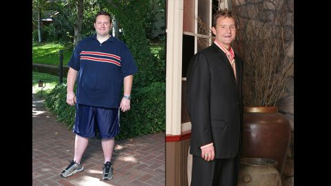 """The first """"Biggest Loser,"""" Ryan Benson, dropped down to 208 after entering the competition weighing 330 pounds. <a href=""""https://twitter.com/ryancbenson"""" target=""""_blank"""" target=""""_blank"""">In his Twitter bio,</a> he said that he's """"gained some of the weight back, but have maintained my boyish good looks and cat like agility."""""""