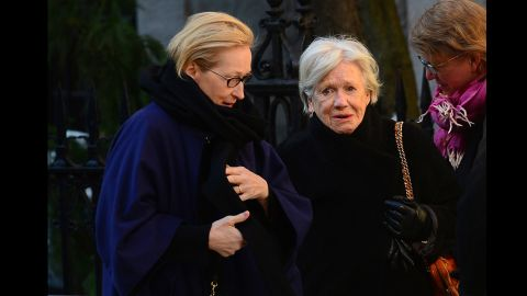 "Actress Meryl Streep, left, starred with Hoffman in ""Doubt."""