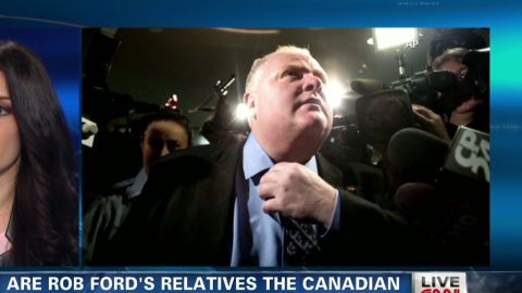"""""""We are Hollywood North,"""" said Toronto Mayor Rob Ford, making a surprise appearance at the Oscars."""