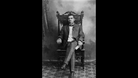 """Booker T. Washington, educator and champion of rights for blacks, was born to a black woman, Jane. She never named his white father, who <a href=""""http://www.encyclopediaofalabama.org/face/Article.jsp?id=h-1506"""" target=""""_blank"""" target=""""_blank"""">was said to be a nearby planter</a>."""