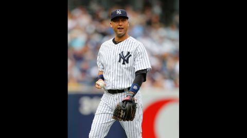 """New York Yankees shortstop Derek Jeter is the son of a white mother and black father. """"You'd go places and get stares,"""" <a href=""""http://www.youtube.com/watch?v=JhxlKjQq3zY"""" target=""""_blank"""" target=""""_blank"""">he told Barbara Walters</a> about growing up biracial. """"If you were just with one of your parents, people would give you a double-take because something just didn't seem right."""""""