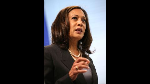 California Attorney General Kamala Harris is the first female, African-American and Asian-American lawyer for the state. Her mother is Indian, and her father is Jamaican-American.