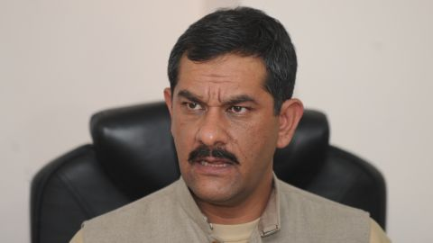 Indian Sports Minister Jitendra Singh addresses a press conference in New Delhi on February 11, 2014.