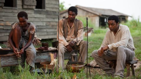 """""""12 Years A Slave"""" chronicles the true story of Solomon Northup, a free black man who was kidnapped and sold into slavery (played by Chiwetel Ejiofor, right)."""