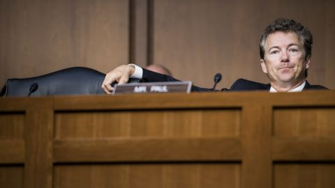Paul attends a Senate Foreign Relations Committee hearing on Syria in September.