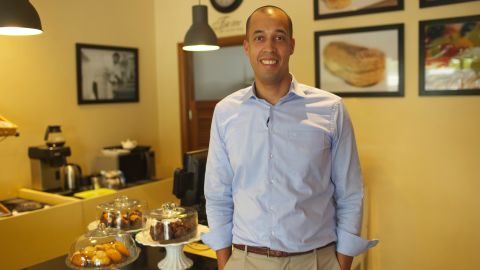 Jean-Philippe Kayobotsi is the founder of Brioche, a Kigali-based upmarket bakery and coffee shop.