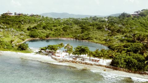 A fire destroyed much of the infrastructure on Necker in 2011 after one of its residences was struck by lightning, but the island has since been restored to its former glory.