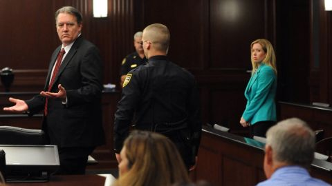 Michael Dunn reacts after the verdict is read in Jacksonville, Florida, on Saturday, Feburary 15.