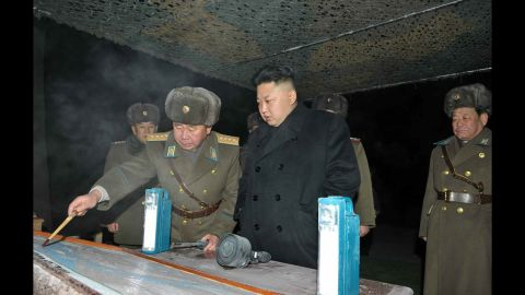 A photo released by the KCNA on Thursday, January 23, shows the North Korean leader inspecting an army unit during a winter drill.