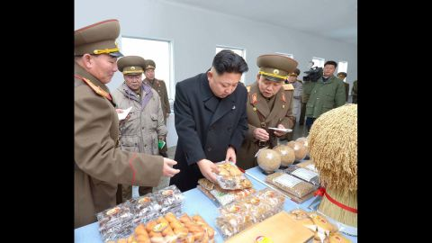 Kim visits an army unit in this undated photo.