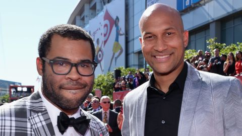 """Comedians Jordan Peele, left, and Keegan-Michael Key have a popular Comedy Central show, which often pokes fun at mistaken identities. """"Jordan and I have an African-American way of looking at things but also a child-of-a-white-mother way of looking at things,"""" Key told USA Today in 2012. """"We have a very different and distinct filter that we see the world through that other people don't, because we're hybrids."""""""
