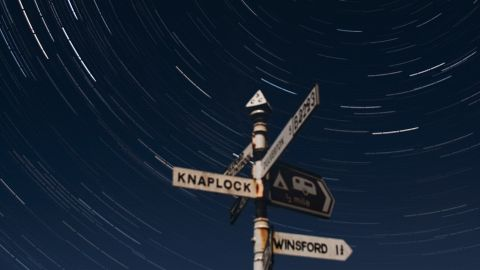 <strong>Exmoor National Park (UK):</strong> A long exposure or multiple stacked images can capture the motions of stars as the Earth rotates. As you focus toward the north or south poles, stars create a circular trail. On the clearest nights, 3,000 stars are visible over this park in Devon and Somerset, UK.