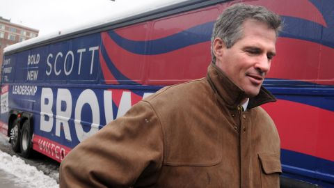 BOSTON - JANUARY 18:  U.S. Senate republican nominee Scott Brown campaigns outside the TD Garden January 18, 2010 in downtown Boston, Massachusetts. According to reports, polls have Brown and Democrat Martha Coakley tied in the special election to fill the seat of late U.S. Sen. Edward M. Kennedy (D-MA) on January 19. (Photo by Darren McCollester/Getty Images)