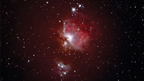 <strong>Zselic Starry Sky Park (Hungary): </strong>The Orion constellation and Orion Nebula can be seen in the Northern Hemisphere during spring. Paul Jeanes captured this image of the Orion Nebula (also known as M42) from his observatory in Washford, UK, but it can also be seen from Hungary's Zselic Starry Sky Park.