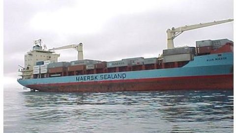 The Maersk Alabama, shown here in a file photo, was attacked and apparently hijacked by pirates off the coast of Somalia Wednesday, April 8. The cargo ship, formerly known as the Alva Maersk, was carrying 20 American crew members, according to the company that owns the vessel.